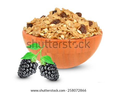 cereal muesli - stock photo