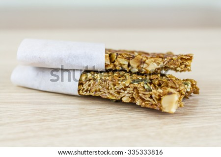 cereal snack bar - stock photo