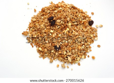 cereal with raisins - stock photo