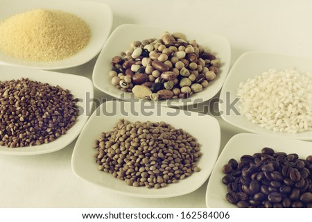 cereals on the background - stock photo