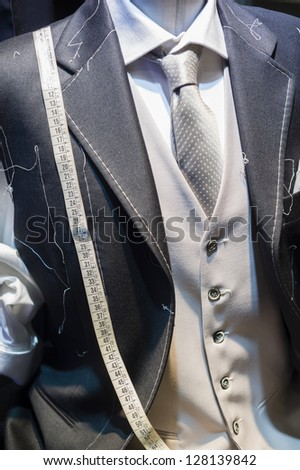 Ceremony handmade Suit technique - stock photo