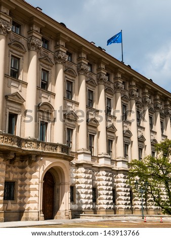 Cernin palace - stock photo
