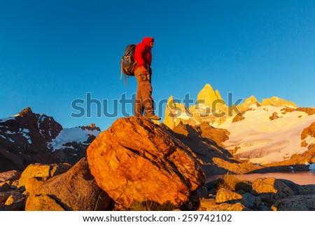 Cerro Fitz Roy in Argentina - stock photo
