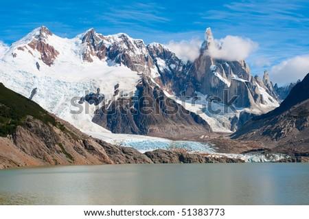 Cerro Torre mountain, Patagonia, Argentina - stock photo