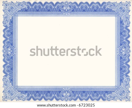 Certificate Border Scan Stock Photo (Royalty Free) 6723025 ...
