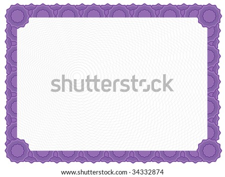 purple certificate template - purple certificate border stock images royalty free