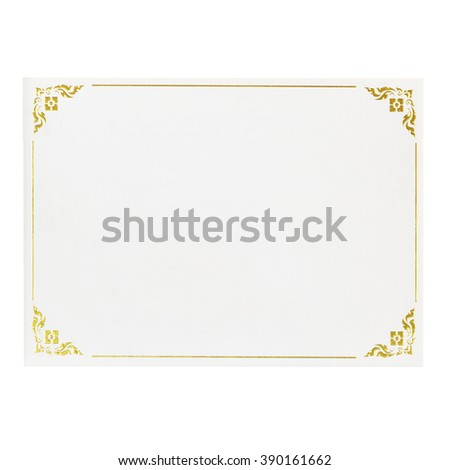 Certificates white paper for text - stock photo