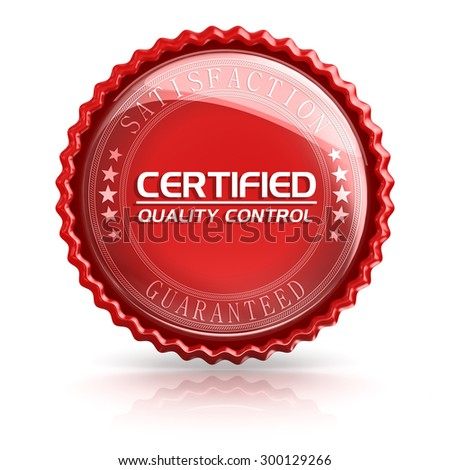 Certified quality control , 3d rendered image.