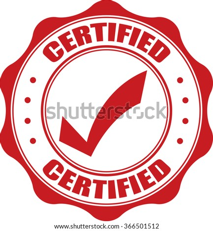 Certified stamp. - stock photo