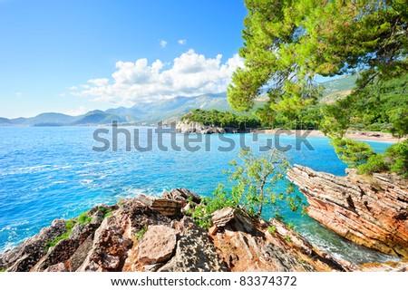 Cerulean Adriatic sea - stock photo