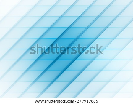 Cerulean blue abstract striped pattern with diagonal and horizontal stripes. Raster graphic background - stock photo