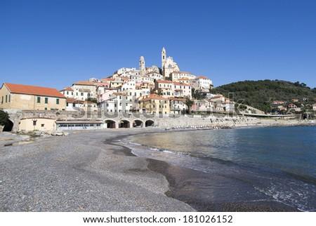 Cervo. The medieval village in Liguria region of Italy - stock photo