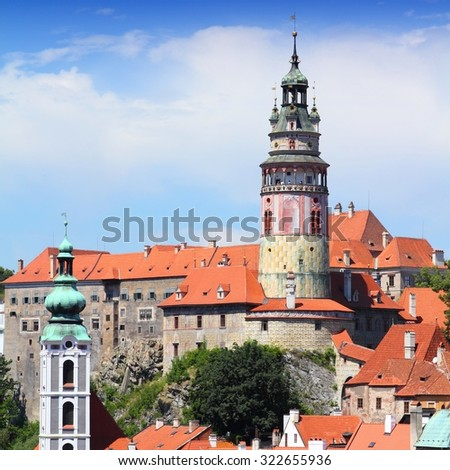 Cesky Krumlov - old town in Czech Republic, listed as UNESCO World Heritage Site