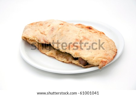 Cevapi. Delicious specialty made on grill from small dumplings of minced meat with onion - stock photo