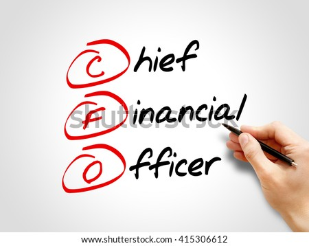 CFO - Chief Financial Officer, acronym business concept - stock photo