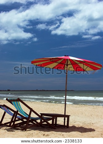 Cha Am Beach (Thailand) - stock photo