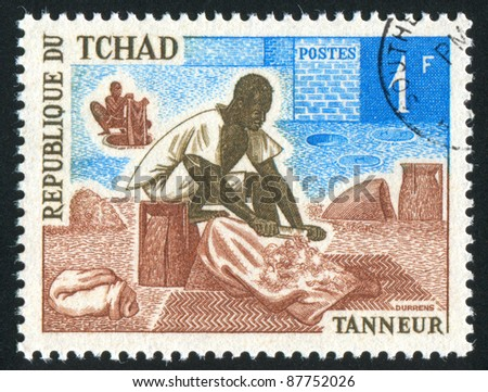 CHAD - CIRCA 1970: A stamp printed by Chad, shows Tanner, circa 1970