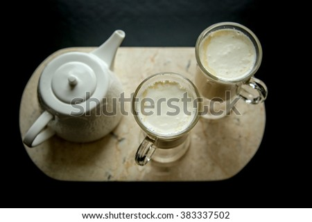 Chai Tea Latte - stock photo