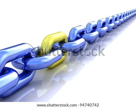 Chain - stock photo