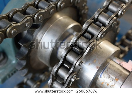 Chain and Gear - stock photo