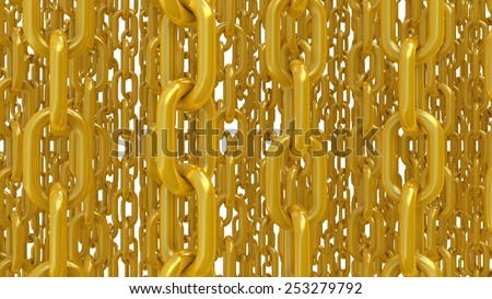 Chain color links - stock photo