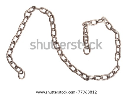 Chain isolated on white background - stock photo