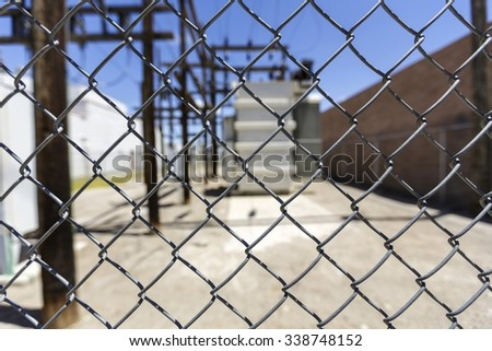 Chain Link Fence Close-up