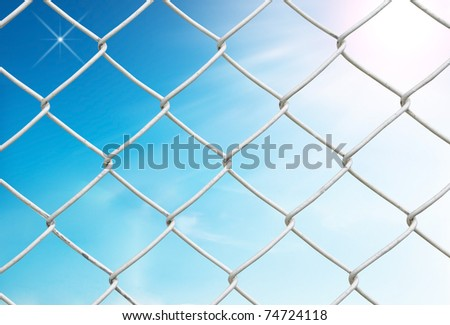 chain link fence see blue sky