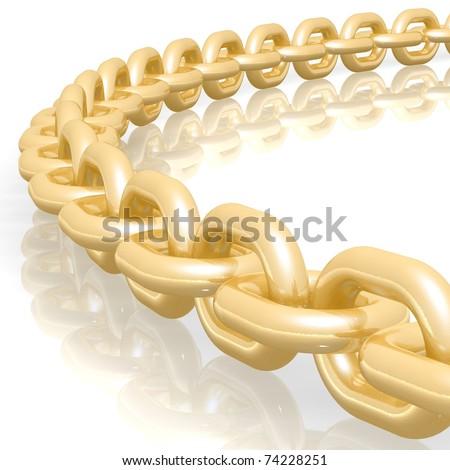 Chain Links - stock photo