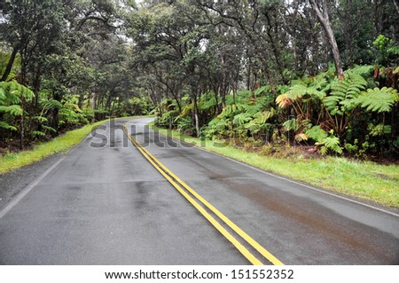 Chain of Craters Road, Hawaii Volcanoes National Park (USA) - stock photo