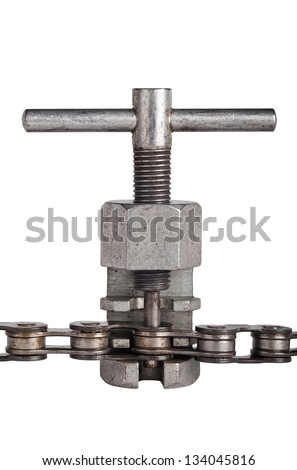 Chain tool isolated on white - stock photo