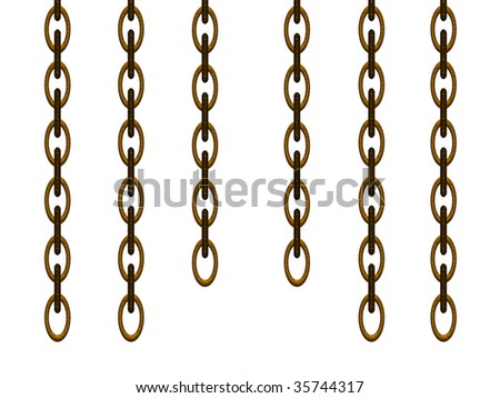 Chain with a gilt, for the decoration of image