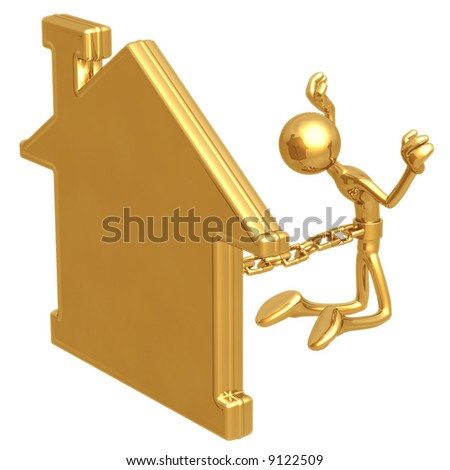 Chained To Home - stock photo