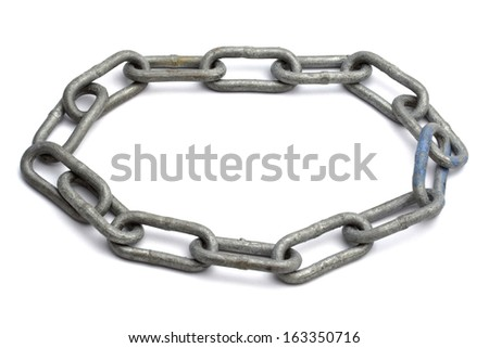 Chains isolated on white background  - stock photo