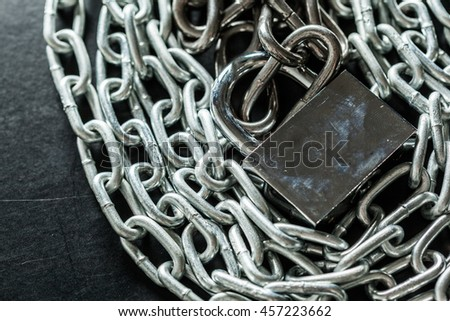 chains on a black background