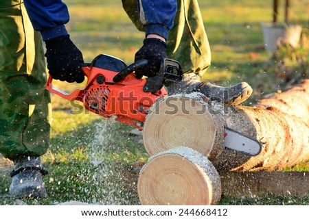 chainsaw - stock photo