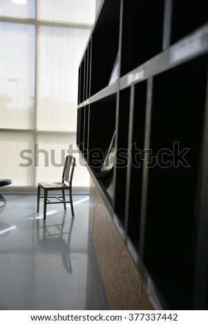 chair and bookshelf , Alone Chair