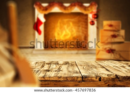 chair boxes and fireplace of your decoration space