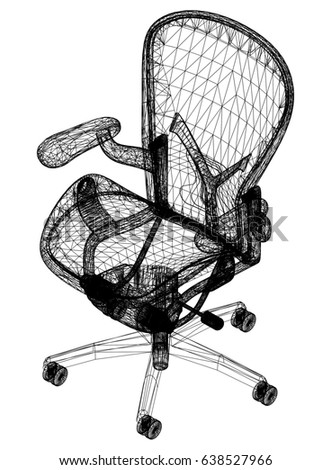 Chair drawing – 3D perspective