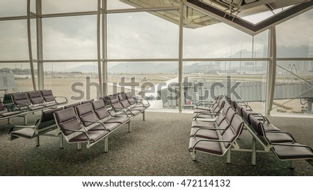 chair for the passengers in the airport