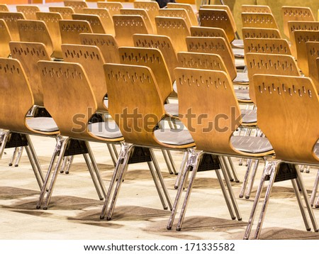 Chair in the conference room  - stock photo