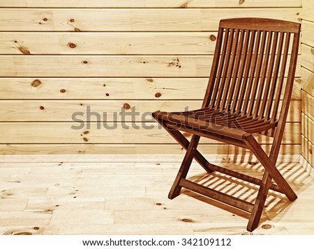 Chair in the Corner of the Room - stock photo