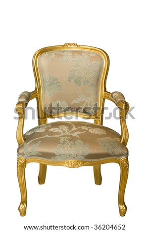 chair in the palace style with upholstered