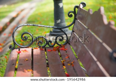 Chair in the park - stock photo