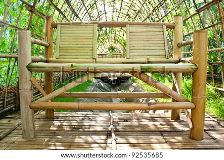 furniture made of bamboo. Chair Made From Bamboo In Garden Architecture Of For Planting Vegetables. Furniture R