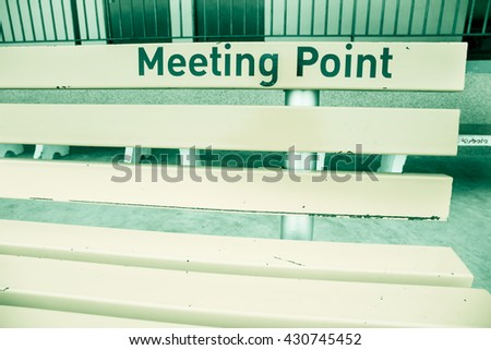 Chair of meeting point in monotone and vintage style. - stock photo