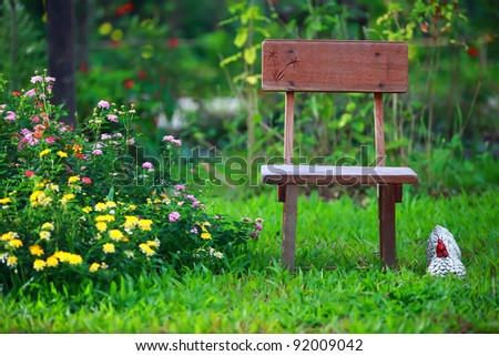 chair on grass - stock photo