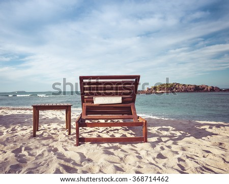 Chair on the Beach in Mexico