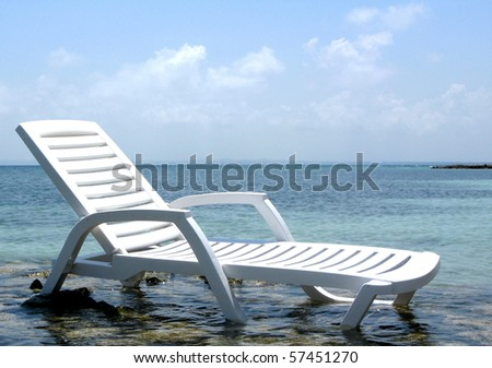 Chair on the beach of exotic sea