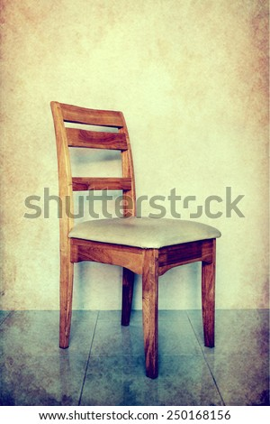 Chair over grunge background - stock photo